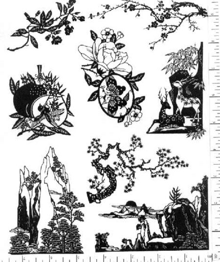 Jim Stephan Rubber Ink Art - 17: Chinese Papercuts